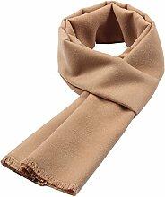 Männer Herbst Warm Lang Schal Paar Geschenk Outdoor Kälte Mehrzweck Frauen Wandern Schal,Khaki-OneSize