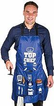 Männer Kochschürze mit 6 Taschen - Man Apron Grillschürze Küchenschürze Grillen