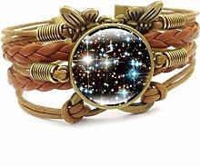 Männer Milchstraße Sternenhimmel Armband Retro