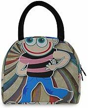 Männer Mittagessen Einkaufstasche Cartoon Junge