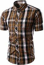 Männer stilvolle Kurzarm Plaid Bluse Freizeithemd elegante Tops Geschenk