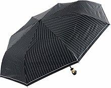 Männer Streifen Business Regenschirm Vollautomatische Falten Regenschirm Drei Fold Zunahme Umbrellas Vinyl Sonnenschutz