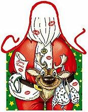 Männer/Themen/Motiv-Fun/Spaß-Grill/Kochschürze/ Rubrik sexy Motive: Sexy Weihnachtsmann - inkl. Spaß-Urkunde