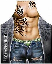 Männer/Themen/Motiv-Fun/Spaß-Grill/Kochschürze/ Rubrik sexy Motive: Tattoo Man - inkl. Spaß-Urkunde