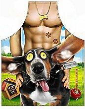 Männer/Themen/Motiv-Fun/Spaß-Grill/Kochschürze/ Rubrik sexy Motive: Glücklicher Hund - inkl. Spaß-Urkunde