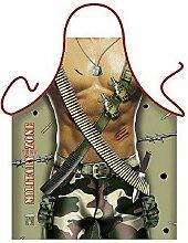 Männer/Themen/Motiv-Fun/Spaß-Grill/Kochschürze/ Rubrik sexy Motive/Rambo: Military Man - inkl. Spaß-Urkunde