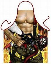 Männer/Themen/Motiv-Fun/Spaß-Grill/Kochschürze/ Rubrik sexy Motive: Feuerwehrmann - inkl. Spaß-Urkunde