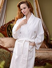 Männer und Frauen Baumwolle fest Farbe Schweiß Dämpfen Kleidung Sauna Kleidung Hotel Bademantel Schnell trocknend Handtücher Badetuch Nachthemd Bademäntel Pyjama Bademantel ( farbe : E , größe : M )