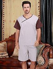 Männer und Frauen Baumwolle Superabsorbent Bademäntel Schweißdampf Service Sauna Kleidung Schnell trocknend Handtücher Badetuch Nachthemd Pyjama Bademantel ( farbe : B , größe : L )