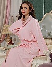 Männer und Frauen Baumwolle Superabsorbent Bademäntel Schweißdampf Service Sauna Kleidung Schnell trocknend Handtücher Badetuch Nachthemd Pyjama Bademantel ( farbe : E , größe : Xl )