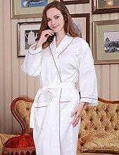 Männer und Frauen Baumwolle Superabsorbent Bademäntel Schweißdampf Service Sauna Kleidung Schnell trocknend Handtücher Badetuch Nachthemd Pyjama Bademantel ( farbe : A , größe : M )