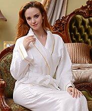 Männer und Frauen Normallack Baumwolle Long Sleeves Superabsorbent Bademäntel Schweißdampf Service Sauna Kleidung Schnell trocknend Handtücher Badetuch Pyjama Bademantel ( farbe : C , größe : M )