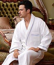 Männer und Frauen Normallack Baumwolle Long Sleeves Superabsorbent Bademäntel Schweißdampf Service Sauna Kleidung Schnell trocknend Handtücher Badetuch Pyjama Bademantel ( farbe : F , größe : M )
