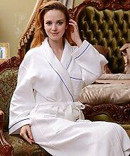 Männer und Frauen Normallack Baumwolle Long Sleeves Superabsorbent Bademäntel Schweißdampf Service Sauna Kleidung Schnell trocknend Handtücher Badetuch Pyjama Bademantel ( farbe : B , größe : M )