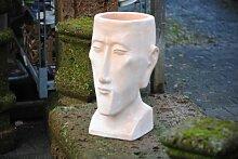 Männerkopf,bepflanzbar,terracotta