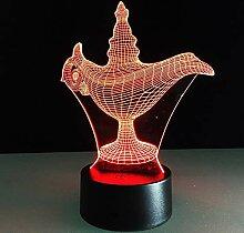 Märchen Aladdin Nachtlichter für Kinder, 3D