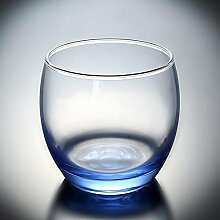 Maerye Glastasse Wasser Haushalt blau Fruchtsaft