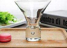 Maerye Transparentes Glas Runde Eis Becher trinken cup 240ML 6G