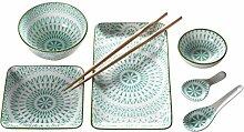 Mäser, Serie Dalian, Sushi Set 7-tlg, Porzellan