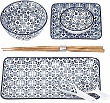 Mäser, Serie Harbin Sushi Set 7-tlg, Porzellan