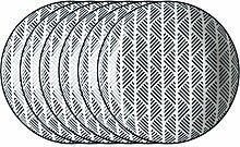 Mäser, Serie Rennes, Teller tief 21 cm, Porzellan