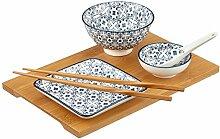 Mäser, Serie Wuhan Sushi Set 6-tlg, Porzellan