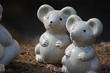 Mäuse,niedliche Gartendeko aus Keramik,4er Set,10cm