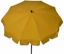 Maffei Art 84 runder Sonnenschirm D.cm 200, Stoff 100% Dralon, Stahlgestell mm 27/30 mit Knicker. Made in Italy. Farbe Gelb