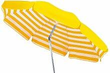 Maffei Sonnenschirm rund Venezia weiß/gelb 120,0x 11,0x 11,0cm art181agialloriga