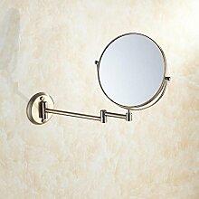 MAFYU 304 Edelstahl antike Schönheit Spiegel wandhängende kosmetische Badezimmerspiegel kann sein Teleskop doppelseitig (gewöhnliche Mirr OR/3 x Lupe), φ20cm