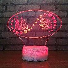 MAFYU 3D Nachtlicht Schreibtischlampe Christian