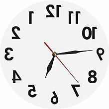MAFYU Heimzubehör Acryl Spiegel Wandspiegel Uhr