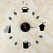 MAFYU Heimzubehör Kaffee-Haferl DIY Uhr stumm Uhr