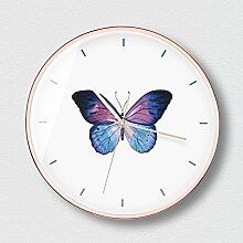 MAFYU Heimzubehör Schmetterling Mute Wanduhr