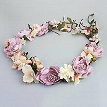 MAFYU Hohe Qualität Diademe Braut Blumen Ranke