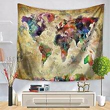 MAFYU Hohe Qualität Wandteppiche Weltkarte Druck