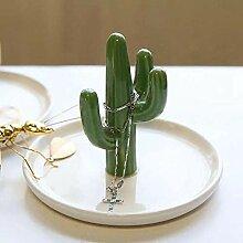 MAFYU Kreative Geschenke Kaktus Keramik Schmuck