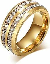 MAFYU Qualität Ringe Gold Doppelreihe Männer Und