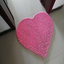 MAFYU Qualität Teppich Herzförmige Chenille