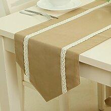 MAFYU reine Tischdecke Tisch Flagge Spitze Tisch
