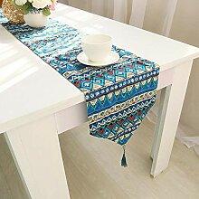 MAFYU Tischläufer,Baumwolle Bettwäsche Bett