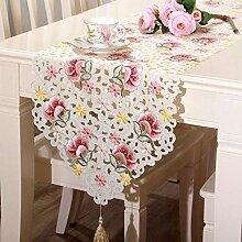 MAFYU Tischläufer,Bestickte hohlen Tischdecke