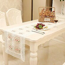 MAFYU Tischläufer,Bestickte Spitze Tischfahne