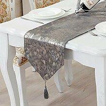 MAFYU Tischläufer,Couchtisch Tuch Wildleder