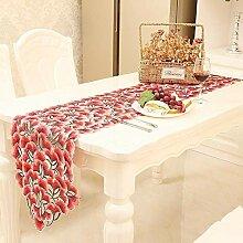 MAFYU Tischläufer,Hohl Tabelle Flagge Weihnachten