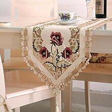 MAFYU Tischläufer,Moderne einfache Stickerei