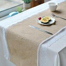 MAFYU Tischläufer,Spitze Bettwäsche Retro
