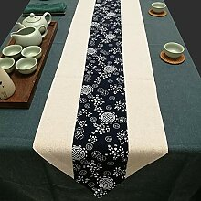 MAFYU Tischläufer,Stoff Baumwolle Leinen