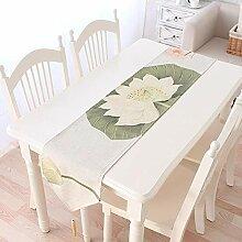 MAFYU Tischläufer,Verdickung Leinen Tabelle