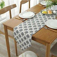 MAFYU Tischläufer,Vintage-Baumwolle und Hanf